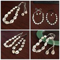 Trendy Lady Natural Shell Necklace Sea Shell Pendant Collar Choker Beach Jewelry