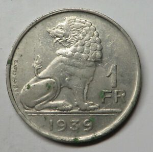 Belgium Franc 1939 Nickel KM#119