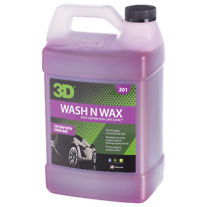 3D 201 Wash And Wax Shampoo e Cera Concentrato Schiumogeno 3,78Lt