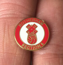 ROTHERHAM UNITED SMALL SECTION 5 HOOLIGAN FIRM  ENAMEL PIN BADGE