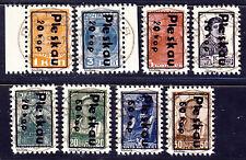 """Russland  """" Pleskau, Pskow """" Freimarken1941 Mi# 2-9 gestempelt Fälschung"""