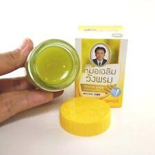 50g. Wangphrom Thai Balm Yellow Jar Original Ointment Herbal Massage Pain Relief