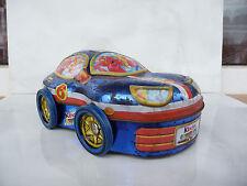Kinder Sorpresa tin car box Angelino&Satanello egg rust used rare Surprise