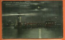 Cleveland, Oh/ Light house& Life saving station / Cuyahoga River/night/moon/pc