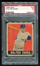 1948 Leaf #78 Walter Evers Detroit Tigers PSA 1