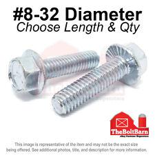 8 32 Grade 5 Serrated Hex Flange Screws Frame Bolts Zinc Pick Length Amp Qty