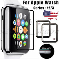 38/42mm Full Cover Tempered Glass Screen Protector For Apple Watch Series 3/2/1