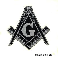 Free Mason Symbol Embroidered Iron On Sew On Patch Badge For Clothes Bags etc