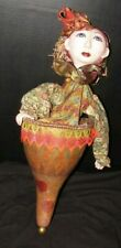 """Hand Painted & Crafted Folk Art Gourd Puppet 24"""" x 10"""" Signed"""