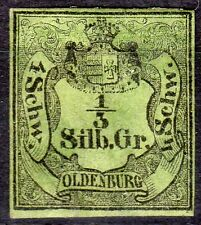 201117).N°1....OLDENBERG...coté 1650 .......charnière, gomme originale, 4 marges