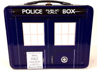 Dr. Who Collectible Metal Lunchbox Police Public Call Box Tin Metal Container