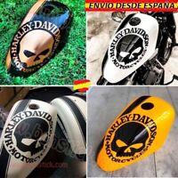 Vinilos Pegatinas Laterales Decal Moto Harley Davidson Calavera