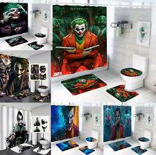 The Joker Bathroom Mat Set 4PCS Shower Curtain Non-Slip Toilet Seat Mat Cover