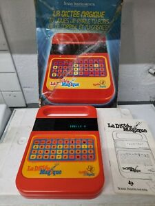JEU EDUCATIF VINTAGE La Dictée Magique Texas Instruments FONCTIONNE