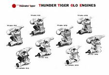 THUNDER TIGER  5th Generation  Eng. Instruction Sheets ~ Parts List & Numbers