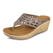 Calzado de mujer sandalias con tiras Skechers de tacón medio (2,5-7,5 cm)