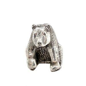 S. Kirk & Son Sterling Silver Bear Figurine