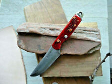 Utility Knife, High-Carbon Hand-Forged Steel, Bone Handle, Made to Order, Sheath