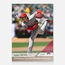 2018 Topps Now ~ Card #23 ~ Shohei Ohtani ~ First MLB Win!