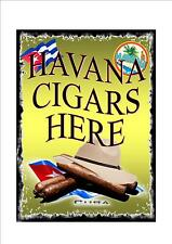 Stile Retrò Vintage Sigaro Cubano INSEGNA PUBBLICITARIA segno Porta, Cuba Havana sign