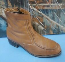 MENS SZ 10.5 E  BROWN LEATHER DRESS ANKLE BOOTS,