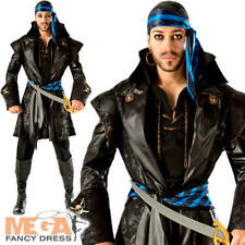 Rum Runner Pirate Mens Fancy Dress Caribbean High Seas Voyager Adult Costume New
