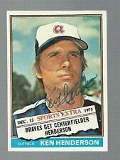Ken Henderson Signed Auto 1976 Topps Traded #464T Baseball Card Autograph