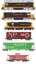 Northern Pacific Freight Train 6 magnets Andy Fletcher
