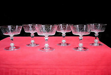 BACCARAT RICHELIEU CHAMPIGNY TALL SHERBET GLASSES COUPES CHAMPAGNE CRISTAL 5777