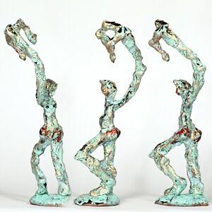 "Kunst Skulptur ""Sternenfischer"" 25cm Unikat Andreas Loeschner-Gornau"