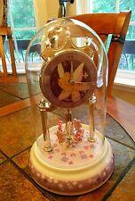 Tinker Bell Glass Dome Sculpted Resin Anniversary Clock Disney Figurine
