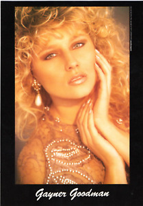 GAYNER GOODMAN RARE MODEL AGENCY PROMO DOUBLE SIDED PHOTO CARD PAGE 3 GLAMOUR