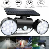 Solar Motion Sensor Detector Flood Light Home Security Guardian Torch Spotlight