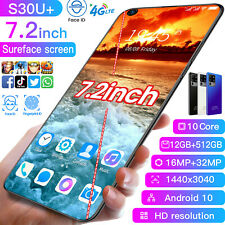 "7.2"" S30U+ 12G+512GB Smartphone Unlocked Android 10 16+32Mp 10Core Mobile Phone"