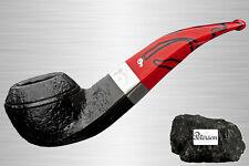 Peterson Dracula Sandblast 80S Pfeife Half-Bent Rhodesian für 9 mm Filter