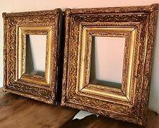 Cadre ancien,Cadre doré,Paire de Barbizon doré à la feuille,30,5cm x 25,5 cm.