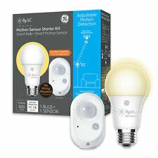 C by GE Wirefree Smart Motion Sensor + Soft White A19 Smart home light Bulb set