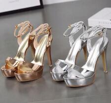 Fashion Damen Schuhe Pumps Sandalen Rund Nachtclub Fesselriemen Slingbacks Hohl