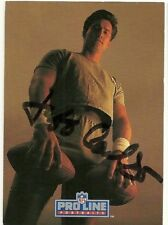 1991 NFL Pro Line JEFF CARLSON Signed Card Lambeau Field GIANTS BUCCANEERS