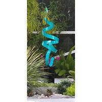 Statements2000 Abstract Metal Garden Sculpture by Jon Allen Teal Perfect Moment