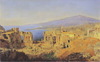"oil painting handpainted on canvas""the ruins of the greek theater  ""@14982"