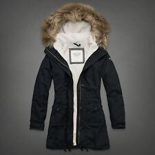 NWT Abercrombie Fitch Codie Parka / Jacket / Coat, Sherpa, Navy, Large