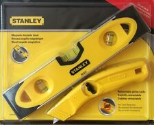 STANLEY Magnetic Torpedo Level & Retractable Utility Knife - NEW - STHT70931