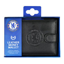 CHELSEA FC RFID TECHNOLOGY EMBOSSED LEATHER WALLET PURSE CARD NOTE NEW XMAS GIFT