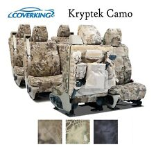 Coverking Custom Tactical Seat Covers Ballistic Canvas 3 Row Set - Kryptek Camo