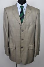 WERTHER Tweed Check 95% Bamboo Mens Blazer UK 40L Jacket Suit Eur 50L 98 Harris