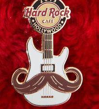 Hard Rock Cafe Pin Hollywood MUSTACHE cowboy guitar handlebar lapel bass hat LE
