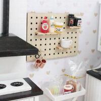 1:12 Dollhouse Miniature Wooden Hole Board Storage Rack Furniture AccessoriesSL