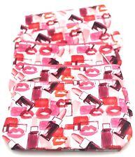 Lot of 6:  CLINIQUE  Pink Cosmetic Makeup Bag ~Lipsticks