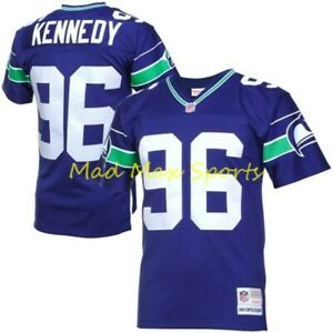 CORTEZ KENNEDY Seattle SEAHAWKS Home MITCHELL AND NESS Throwback LEGACY Jersey